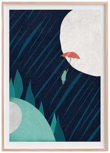 Artwork by Pingu On Mars, terinspirasi dari lagu 'Angin Kencang' oleh Noh Salleh.